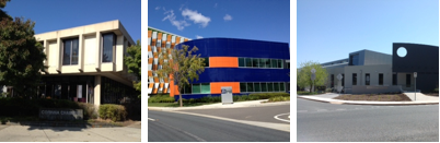 The three locations of the Corinna Dental Group: Woden, Brindabella Business Park (near the Canberra International Airport) and Deakin