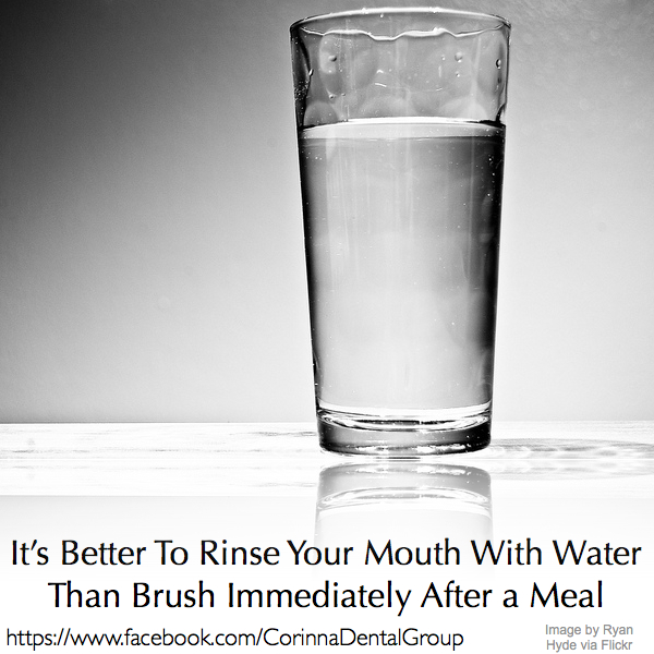 Rinse your mouth with water
