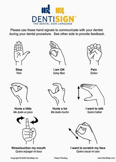 Dental Chair Sign Language