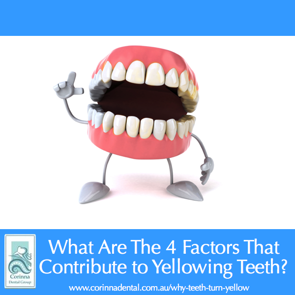 Why teeth turn yellow