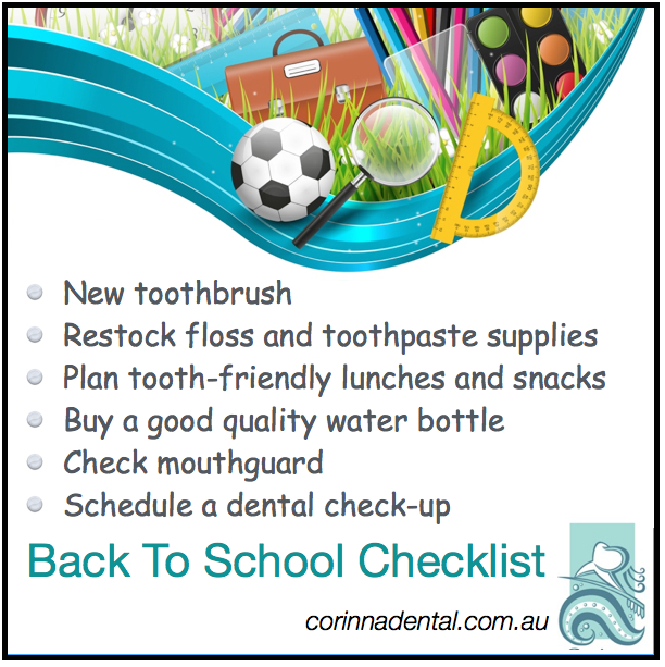 Back to school dental checklist corinna dental group