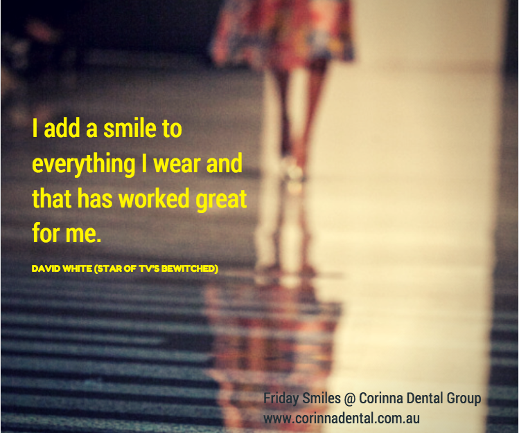 I add smile to everything I wear