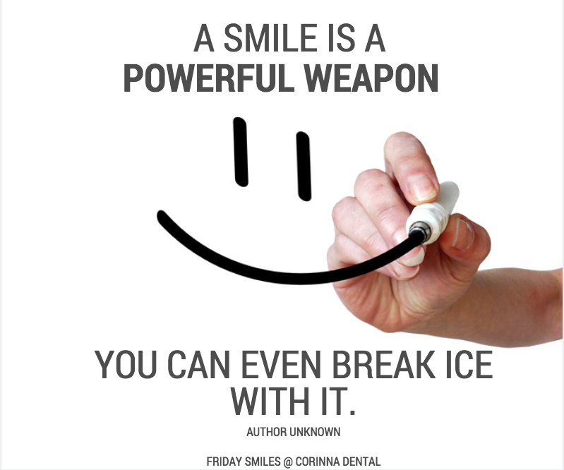 Friday Smiles-powerful weapon