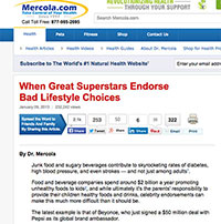 "A screenshot of article, ""When Great Superstars Endorse Bad Lifestyle Choices"""