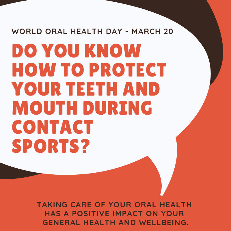 do you know how to protect your teeth and mouth during contact sports?